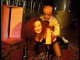 Hairy Italian anal and pissing with a Midget