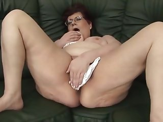 Granny on the couch