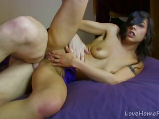 Latina Angel Gobbles Cock Before Anal Drilling