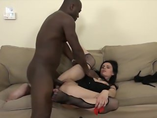Interracial Anal Teen Gets Ass fucked Big Black Cock She Likes it Hardcore