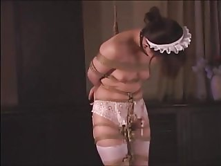 Whip & punish Asian maid
