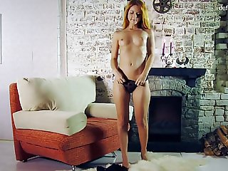 Tattooed Redhead Birdman in thongs casting