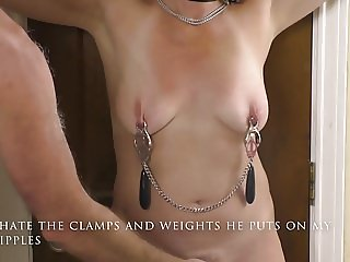 Slave nikki, first tit torture on video