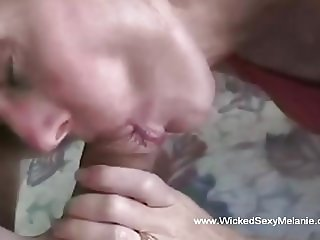 Amateur Mommy Sucks Down The Penis