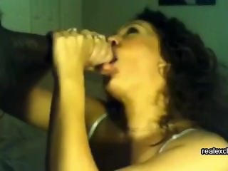 my wife facialized by huge black dick