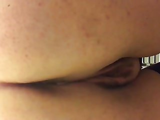Girlfriend pissing on toilet