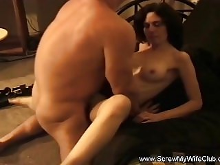 Swinger Brunette Fucks In Front Of Husband With A Stranger