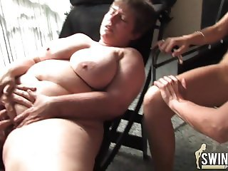 Mixed gemran pussy party