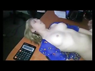 Blonde office slut Tanya