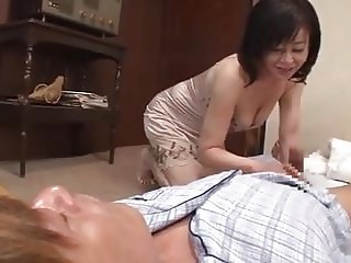 Dad's cock doesn't work, japanese mom looks for son's cock