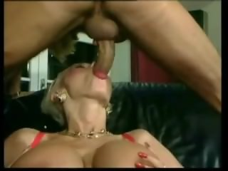 Blonde Euro Slut Dolly Buster Eats Cum