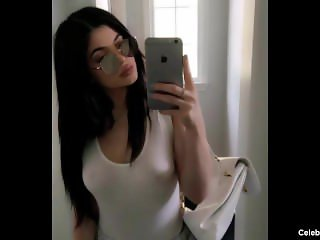 Kylie Jenner Nude And Naughty See Through Lingerie Selfie
