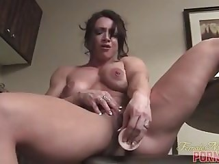 Nude Female Bodybuilder BrandiMae Masturbates and Says Its S