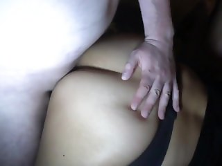 Two men bang horny mature wife