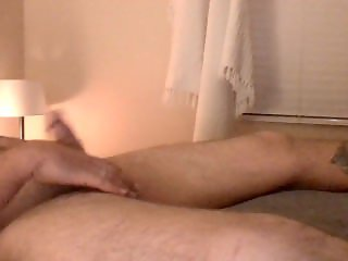 My husband stroking his gorgeous throbbing cock