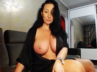 Sexy busty bouncing and flashing
