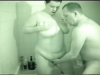 Big Tit BBW MILF'S Intense Orgasm In The Shower