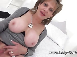 Auntie Sonia wants you to spread her lips and lick her cunt