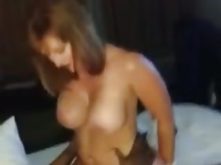 Husband filming BBC cum in the pussy of his mature Wife