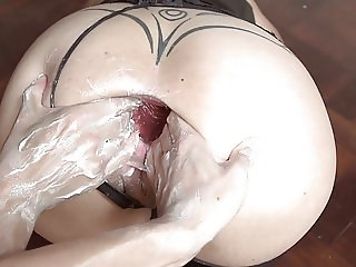 MONSTER DILDO GAPE FISTING AND DOUBLE FISTING