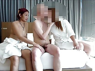 real swingers 3some with asian prostitute