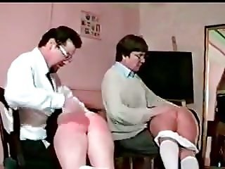 2 Girls Spanked Together