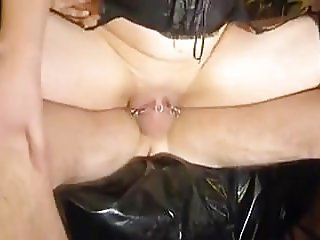 Piercings, A Puffy Swollen Pussy and Piss