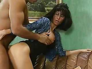 Biggy with glasses, wig and anal penetration