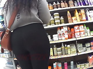 Thick Ass Ebony In Sheer See Thru Tights