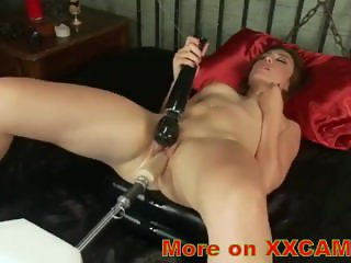 Powerful sex machine fucks the girl and beats her cost