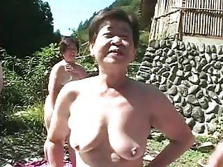 Crazy Japanese grannies orgy