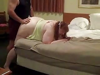 Nasty BBW wife hard doggy fuck