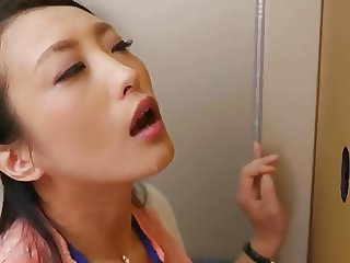 Japanese office blowjob