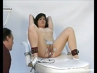 Doctors punishment of pussy tormented patient in medical fet