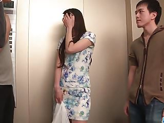 Nana Nakamura acts naughty and sensual in top trio
