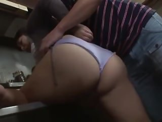 Mom hot in kitchen