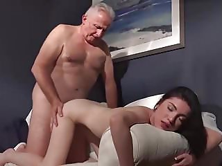 young gf wife charity for old ugly