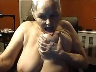 Grandma 68 years old with big tits, 2