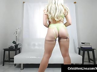 Bubble Butt Latina Cristi Ann Shows Round Ass & Gets Naked