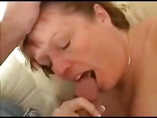 Mom swallows with a sweet smile
