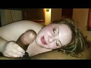 Cute bbw sucking...