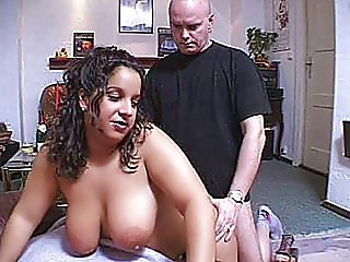 Very busty amateur Milf homemade hardcore action with facial