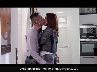 XXX SHADES - Aylin Diamond passionate makeout and blowjob