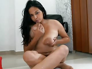 Lactating on Pussy
