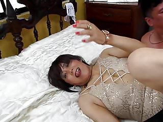 Anal gangbang with her two friends