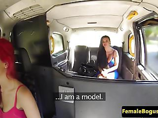 Bigtitted ginger cabbie pussylicking lesbian