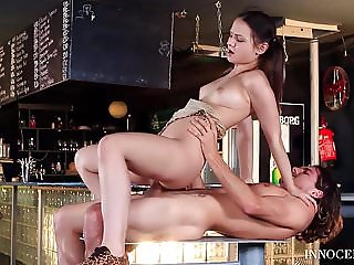 Hungarian Babe Anina Silk Has Sensual Sex with the Bartender