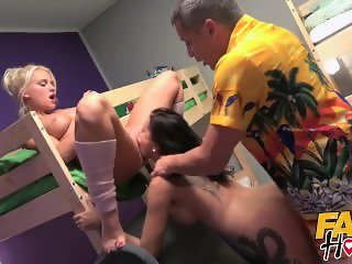 Fake Hostel - Horny blonde Italian and brunette Russian girls fucked hard