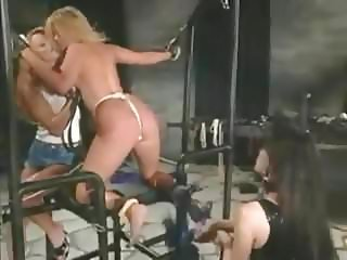 P.J. Sparxxx tied up, whipped, and fucked with strap-on