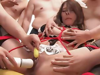 Japanese - Hardcore Waitress - Sloppy Seconds Gangbang